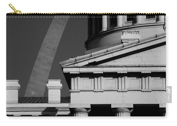 Classical Courthouse Arch Black White Carry-all Pouch