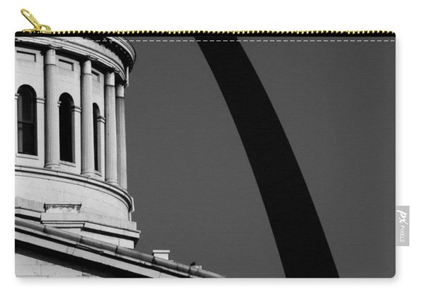 Classical Dome Arch Silhouette Black White Carry-all Pouch