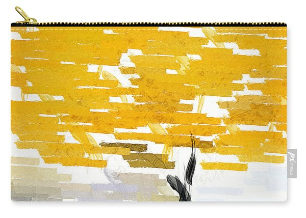 Classy Yellow Tree Carry-all Pouch