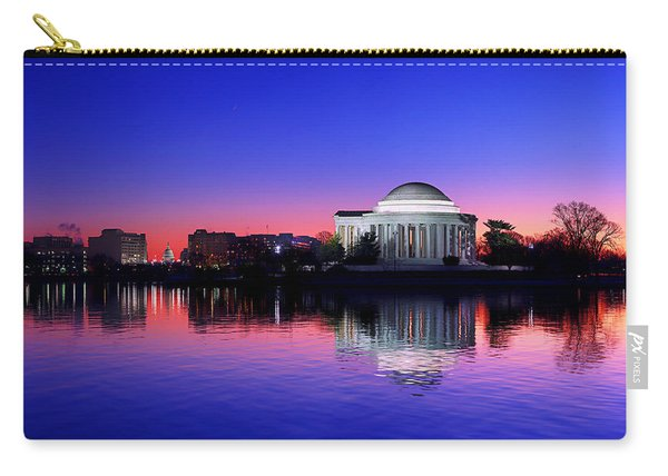 Clear Blue Morning At The Jefferson Memorial Carry-all Pouch