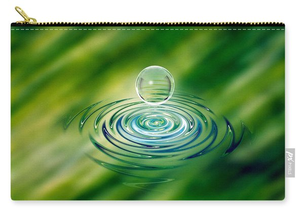 Clear Bubble Rising From Ripples Carry-all Pouch