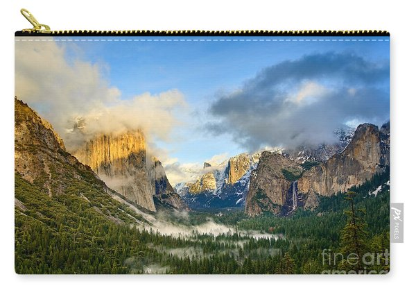 Clearing Storm - Yosemite National Park From Tunnel View. Carry-all Pouch