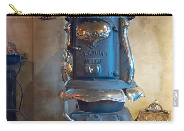 Carry-all Pouch featuring the photograph Clermont No 136 Pot Belly Stove by Mary Lee Dereske