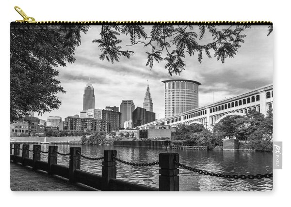 Cleveland River Cityscape Carry-all Pouch