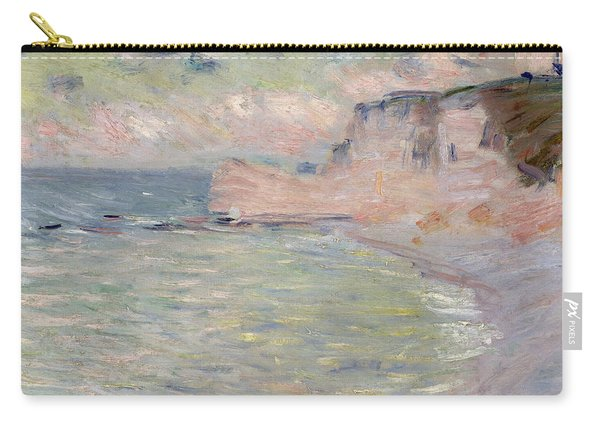 Cliffs And The Porte Damont, Morning Effect, 1885 Oil On Canvas Carry-all Pouch