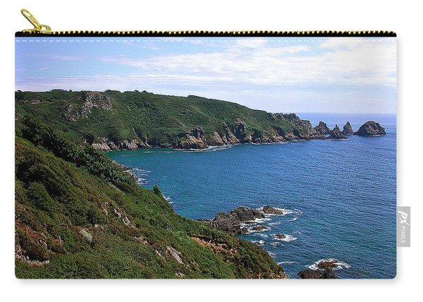 Cliffs On Isle Of Guernsey Carry-all Pouch