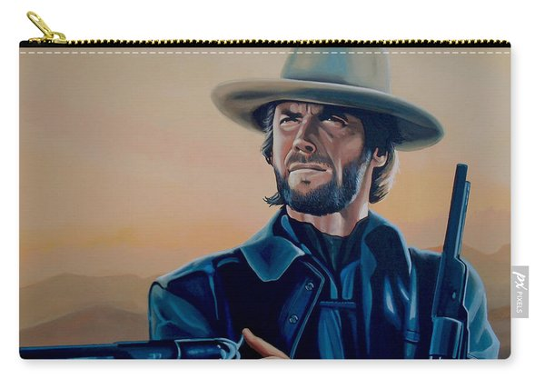 Clint Eastwood Painting Carry-all Pouch
