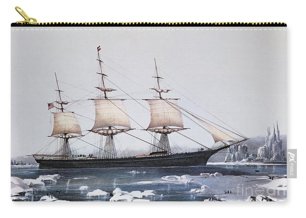 Clipper Ship Red Jacket In The Ice Off Cape Horn On Her Passage From Australia To Liverpool Carry-all Pouch