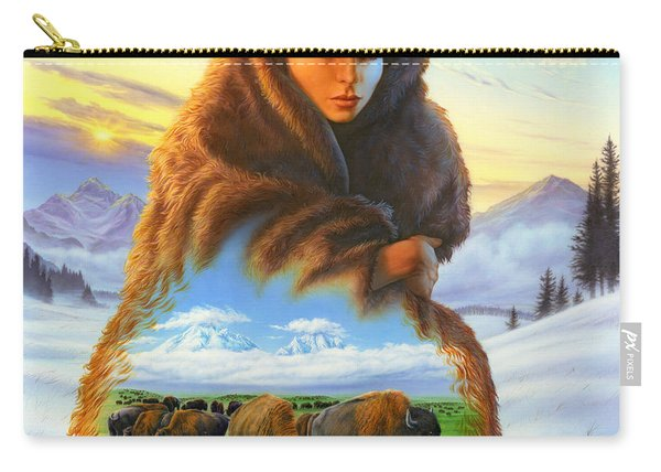Cloak Of Visions Buffalo Carry-all Pouch