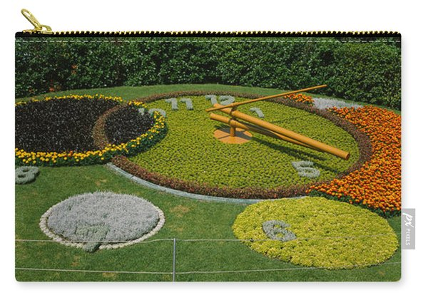 Clock In A Park, Geneva, Switzerland Carry-all Pouch