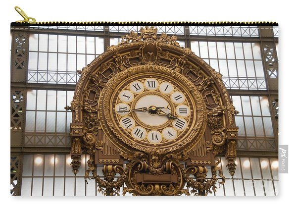 Clock In The Musee D'orsay. Paris. France Carry-all Pouch