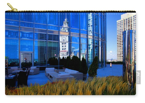 Clock Tower Reflection Carry-all Pouch