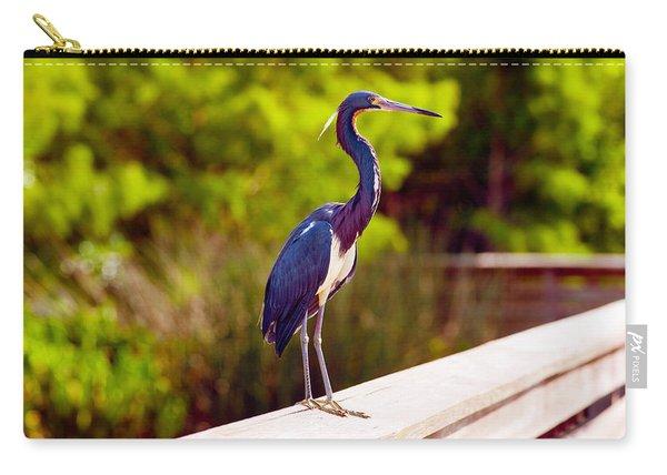 Close-up Of An Blue Egret, Boynton Carry-all Pouch