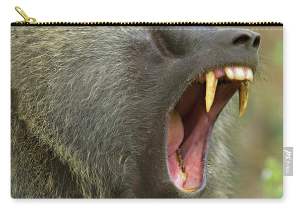 Close-up Of An Olive Baboon Papio Carry-all Pouch