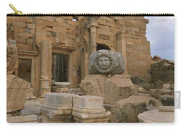 Close-up Of Statues In An Old Ruined Carry-all Pouch