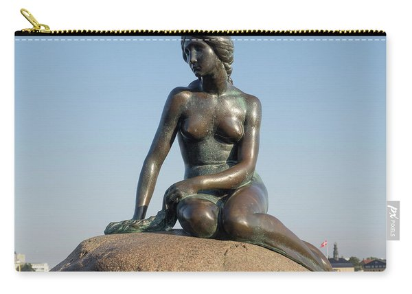 Close-up Of The Little Mermaid Statue Carry-all Pouch