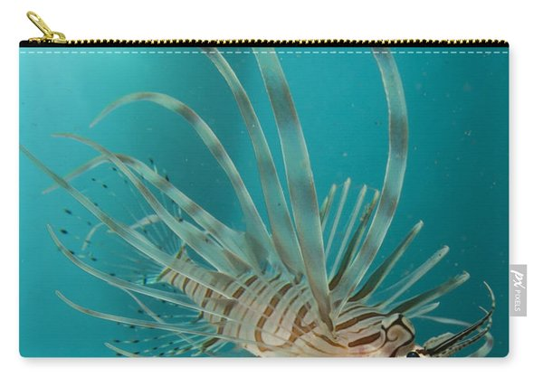 Close-up View Of A Lionfish, Gorontalo Carry-all Pouch