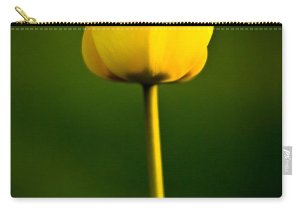 Closed Yellow Flower Carry-all Pouch