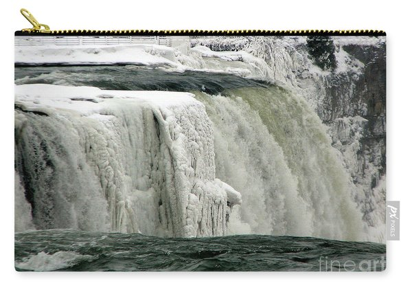 Closeup Of Icy Niagara Falls Carry-all Pouch