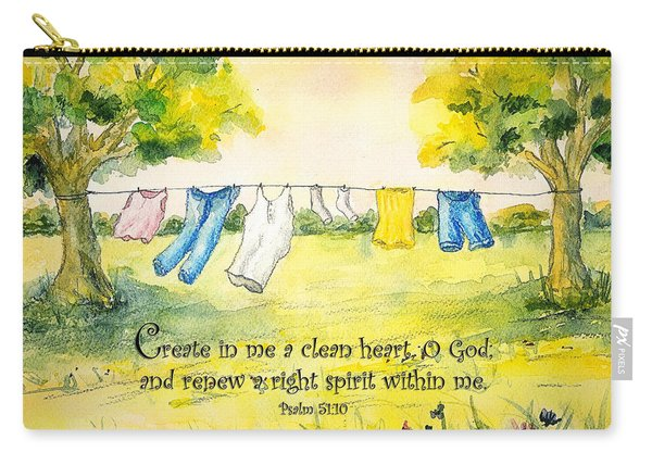 Clothesline Psalm 51 Carry-all Pouch