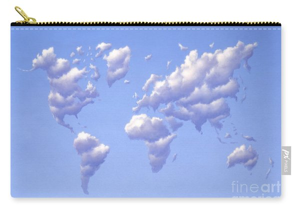 Clouds Forming The Shape Of Earths Carry-all Pouch