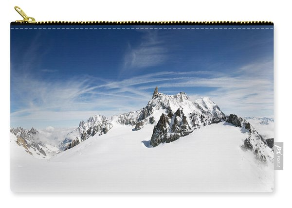 Clouds Over A Snow Covered Mountain Carry-all Pouch