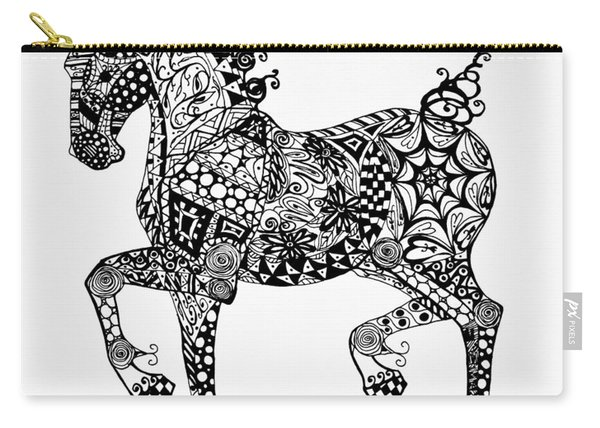 Clydesdale Foal - Zentangle Carry-all Pouch