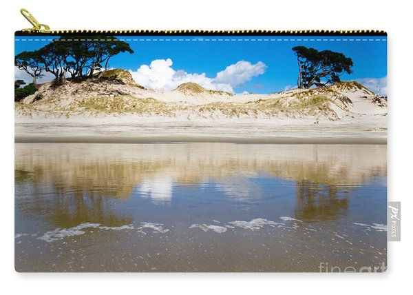Coastal Sand Dune Reflections On Beach At Low Tide Carry-all Pouch