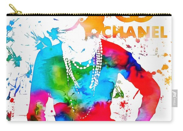 Coco Chanel Paint Splatter Carry-all Pouch