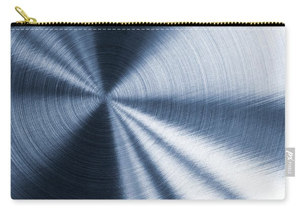 Cold Blue Metallic Texture Carry-all Pouch