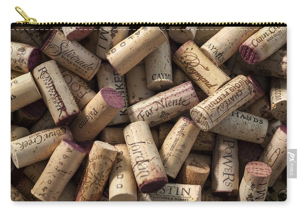 Collection Of Fine Wine Corks Carry-all Pouch