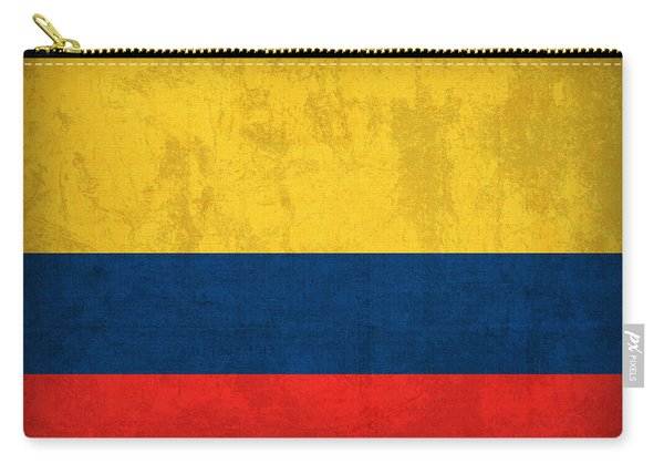 Colombia Flag Vintage Distressed Finish Carry-all Pouch