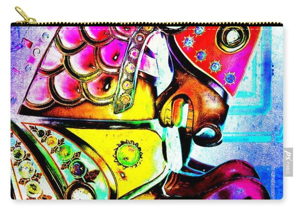 Color Explosion Carrousel Horse Carry-all Pouch