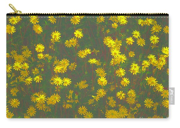 Color Flower Wall Carry-all Pouch