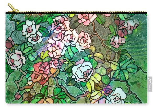 Colored Rose Garden Carry-all Pouch