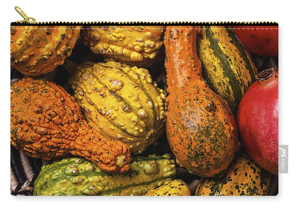 Colorful Autumn Gourds Carry-all Pouch