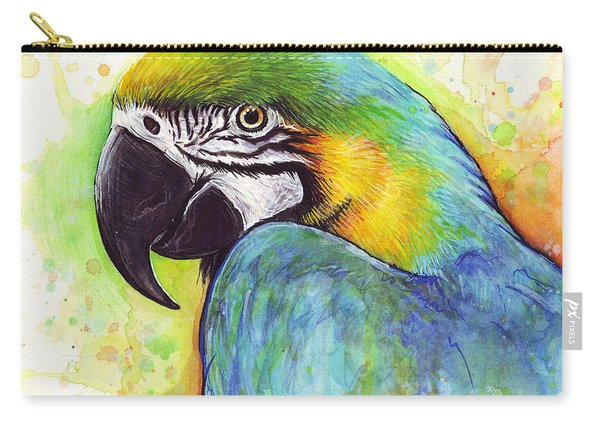 Macaw Watercolor Carry-all Pouch