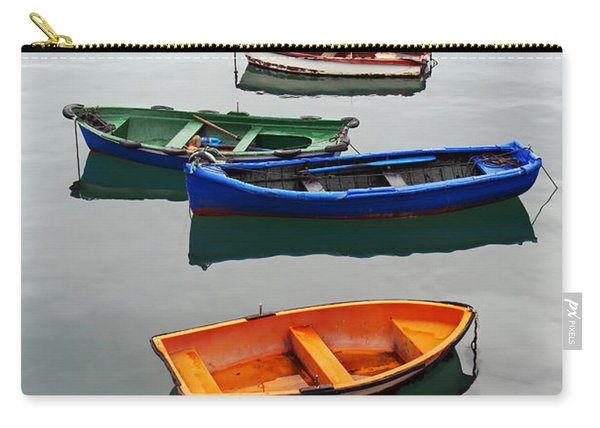 colorful boats on Santurtzi Carry-all Pouch