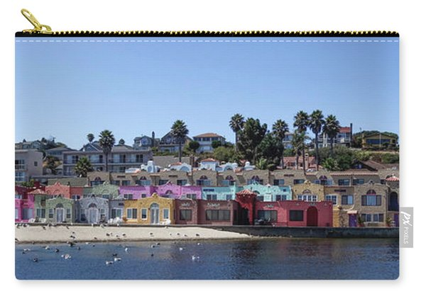 Colorful Buildings And Beach Carry-all Pouch