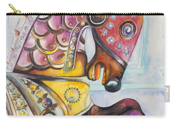 Colorful Carousel Horse  Carry-all Pouch