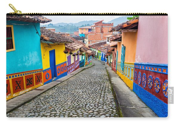 Colorful Cobblestone Street Carry-all Pouch