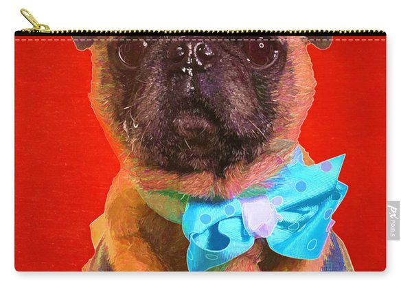 Colorful Dapper Pug Carry-all Pouch
