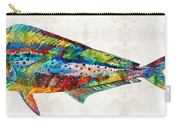 Colorful Dolphin Fish By Sharon Cummings Carry-all Pouch