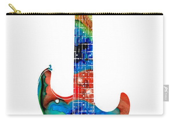 Colorful Electric Guitar 2 - Abstract Art By Sharon Cummings Carry-all Pouch
