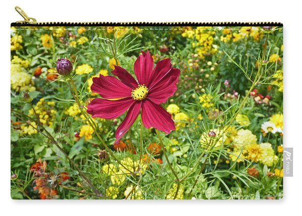 Colorful Flower Meadow With Great Red Blossom Carry-all Pouch
