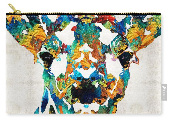 Colorful Giraffe Art - Curious - By Sharon Cummings Carry-all Pouch