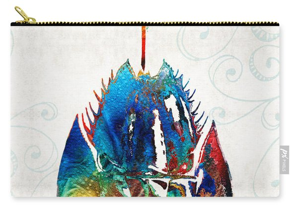 Colorful Horseshoe Crab Art By Sharon Cummings Carry-all Pouch