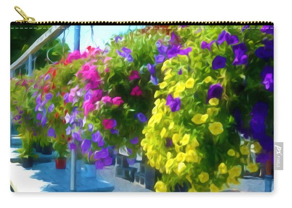 Colorful Large Hanging Flower Plants 1 Carry-all Pouch
