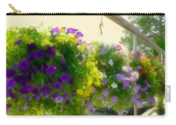 Colorful Large Hanging Flower Plants 2 Carry-all Pouch