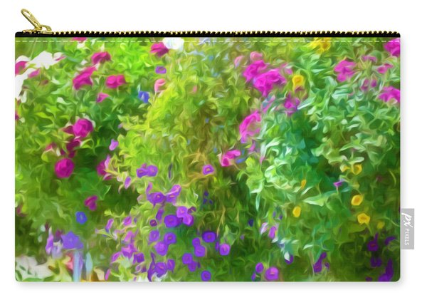Colorful Large Hanging Flower Plants 3 Carry-all Pouch